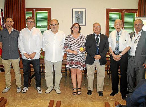 Llorenç Carrió, Joan Verger, Andreu Manresa, Apol·lònia Miralles, Pep Pascual, Andreu Martí y Joan Mesquida.