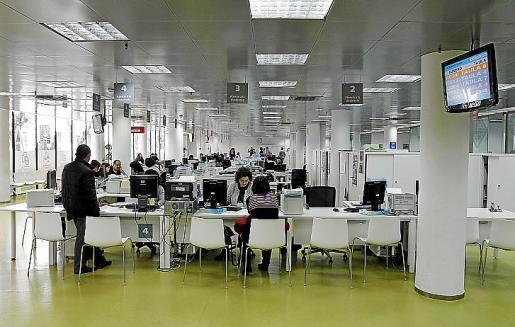 Imagen del interior del edificio municipal d'Avingudes.
