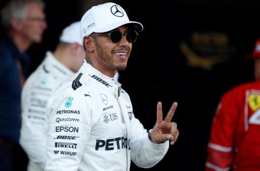 El piloto británico Lewis Hamilton, tras la sesión de clasificación del Gran Premio de Azerbaiyán de Fórmula 1.