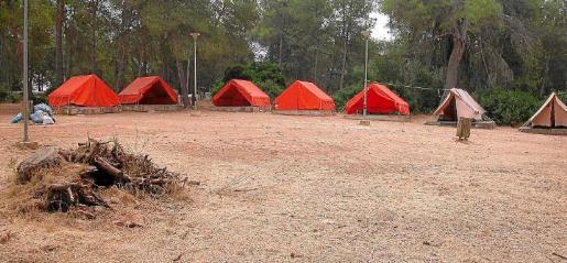 Imagen de archivo del área de acampada de sa Comuna, de Lloret, que lleva 30 años funcionando.