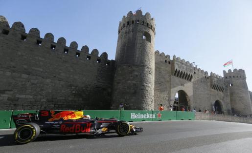 Imagen de Daniel Ricciardo durante la disputa del Gran Premio de Azerbaiyán.