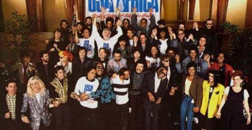 La canción logró reunir a importantes estrellas de los 80.