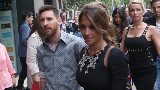 Leo Messi y Antonella Roccuzzo.
