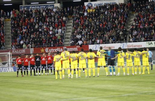Imagen de archivo del último partido de Liga disputado entre el Real Mallorca y el FC Barcelona en Son Moix, el pasado 27 de marzo.