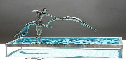 Una de las obras de los artistas que llevará la galería ibicenca a esta feria de Málaga.