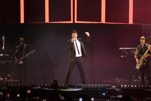 Ricky Martin durante su reciente concierto en Palma.