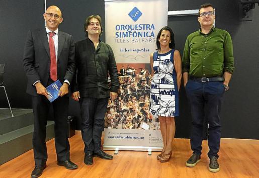 Antonio Sánchez, Pablo Mielgo, Joana Català y Pere Bonet, en Palma Arena.