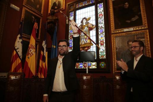 Antoni Noguera tras ser proclamado nuevo alcalde de Palma.