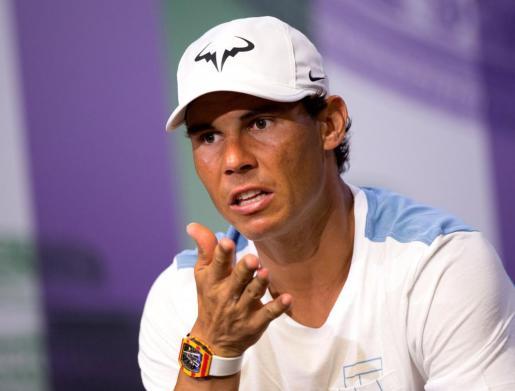 Rafael Nadal, durante la rueda de prensa.