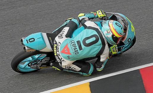 Joan Mir, durante el Gran Premio de Alemania de Moto3.