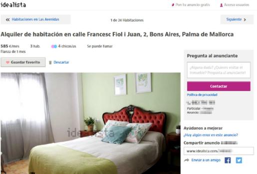Ante la ausencia de pisos económicos, ahora se alquilan habitaciones cuyos precios oscilan entre los 300 y los 500 euros al mes.
