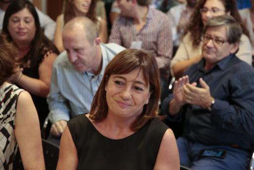 Francina Armengol, durante una reunión del PSIB.