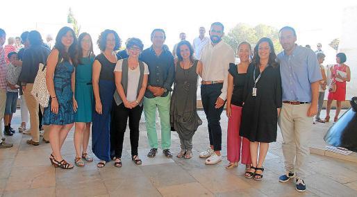 El equipo de la Fundació Pilar i Joan Miró: Antònia Huguet, Irene Gayà., Aina Duràn, Margaux Trougnou, Eric Juncosa, Patricia Juncosa, Francisco Copado, Chiqui Artigues, Antonia López y Alejandro Ysasi.