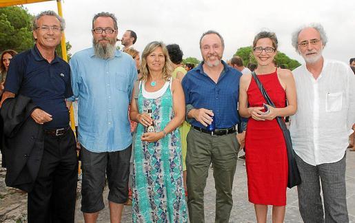 Jaime Garau, Christoph Hafner, Piti Oleza, Ángel Pujol, Carme Verdaguer y Ferran Aguiló.