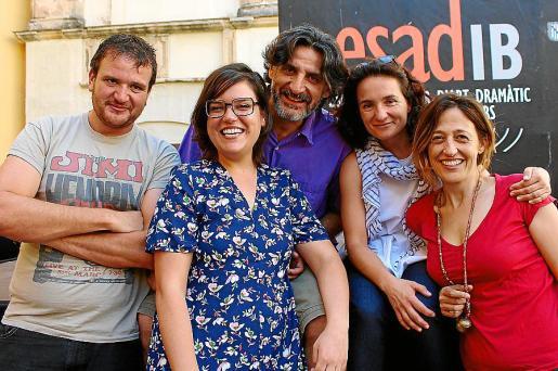 Joan Manel Albiñana, Núria Vizcarro, Biel Jordá, Maite Villar y Silvia Ventayol, profesores.