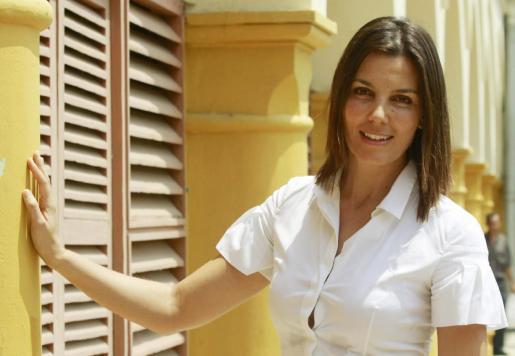 Foto de archivo de la actriz y productora española Mar Flores antes de un conversatorio sobre la película 'Los años desnudos', en la que participó como actriz.