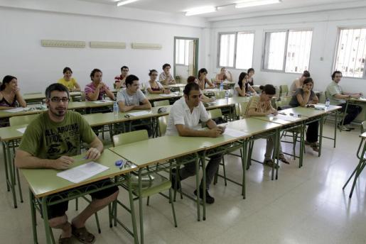 Imagen de archivo de un examen a oposiciones docentes.