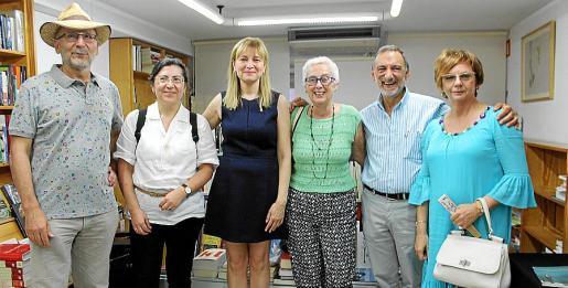 Antoni Guiscafré, Aranzazu Miró, Montserrat Espallargas, Dora Muñoz, Francesc Lladó y María Vadell.