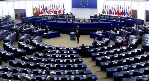 Jean-Claude Juncker durante su intervención en el pleno de hoy martes en la Eurocámara