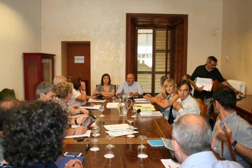 Momento de la reunión del Consorcio Serra de Tramuntana.