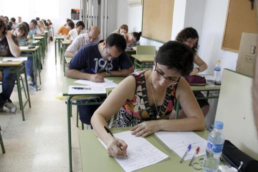 Imagen de archivo de unas pruebas a oposiciones docentes.