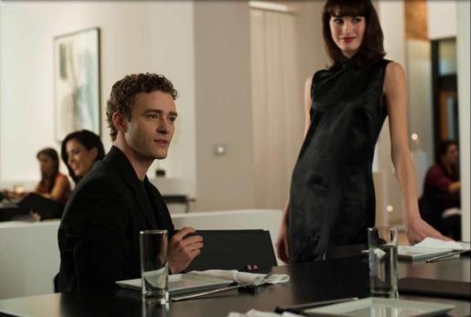 Justin Timberlake, actor y cantante, en la película La Redo Social.