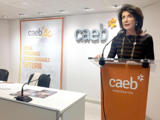 Imagen de archivo de la presidenta de CAEB, Carmen Planas.