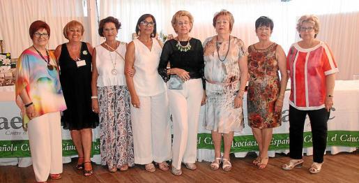 Aina Sitjar, Toñi Rover, Susy Pérez, Joana Martín, Aina María Salvà, Maria Garcies, Catalina Porraca e Isabel Capellà.