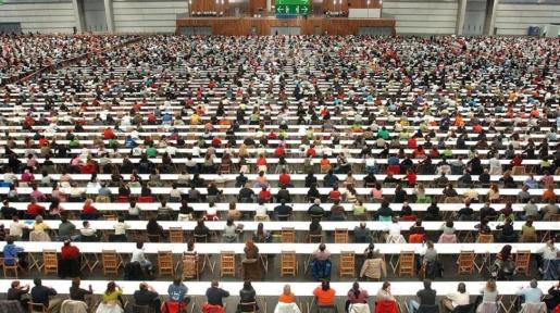 Imagen de archivo de la convocatoria de unas oposiciones.
