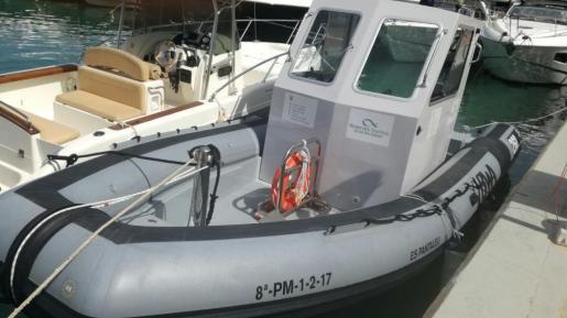 Imagen de la nueva embarcación que protegerá las reservas marinas de las zonas de El Toro, Islas Malgrat y Sa Dragonera.
