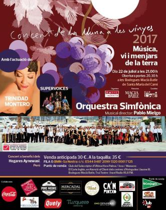 Trinidad Montero, Supervoices y la Orquestra Simfònica dan forma al programa del Concert de la Lluna a les Vinyes.