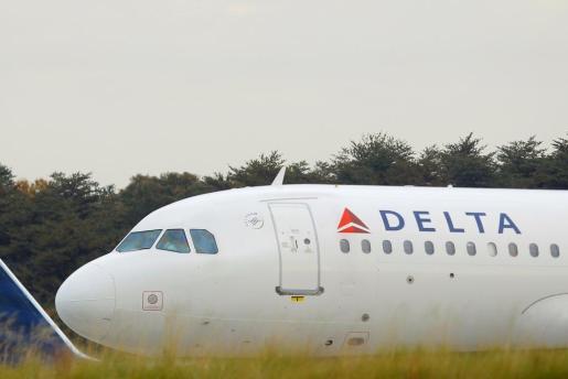 Imagen de archivo de un avión de la aerolínea Delta.