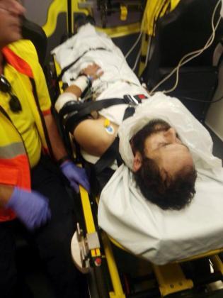 Fotografía facilitada por los Mossos d'Esquadra del hombre detenidopor tirotear junto al tanatorio de Gavà (Barcelona) a dos policías locales.