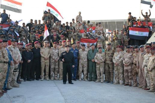 El primer ministro iraquí, Haidar al Abadi, durante el anuncio de la liberación ed Mosul.