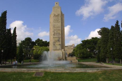 Monumento del parque de sa Faixina