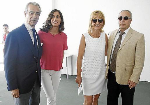 Francisco de Bergas, Maria Francisca Perelló, Ana Maria Parera y Alejandro Blanco.