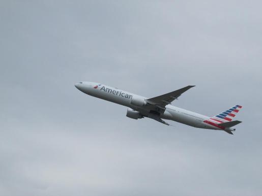 Imagen de un avión de la compañia American Airlines.