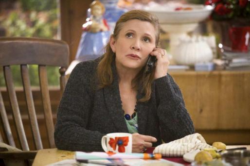 Imagen de Carrie Fisher durante su intervención en la serie «Catastrophe»