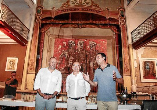 Miquel Ensenyat, Joan Bennàssar y Jaume Servera, en La Defensora de Sóller.