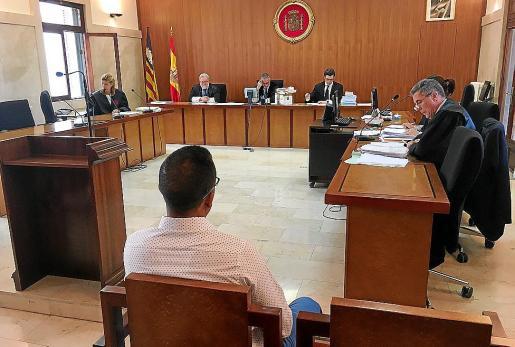 Imagen de archivo de una sesión anterior del juicio en la Audiencia de Palma.