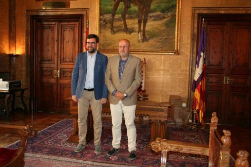 Antoni Noguera se reúne con Miquel Ensenyat por primera vez desde que tomó posesión de su cargo el pasado 30 de junio.