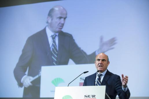 -El Ministro de Economia, Industria y Competitividad, Luis De Guindos.