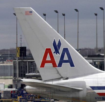 Imagen de archivo de la cola de uno de los aviones de la flota de America Airlines