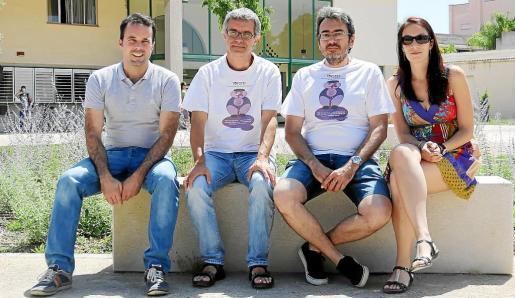 Los doctores en Biología Xurxo Gago, Javier Gulías, Jaume Flexas y María José Clemente.