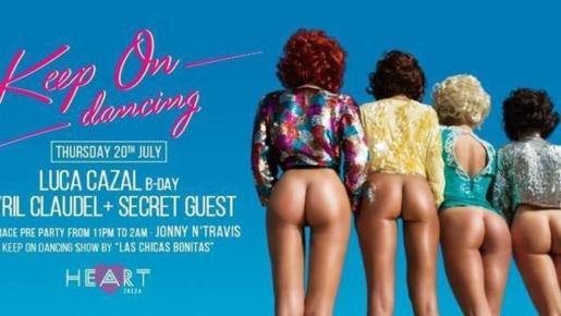 Imagen del controvertido cartel publicado por el restaurante 'Heart Ibiza'.