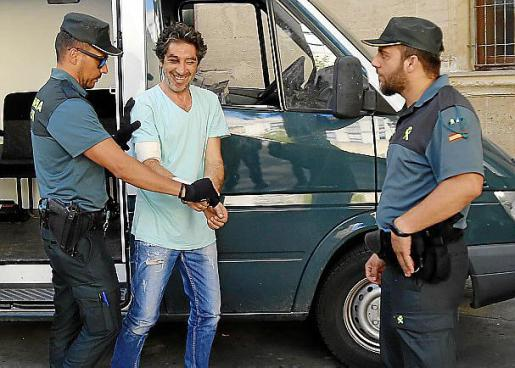 El detenido, este martes en los juzgados.