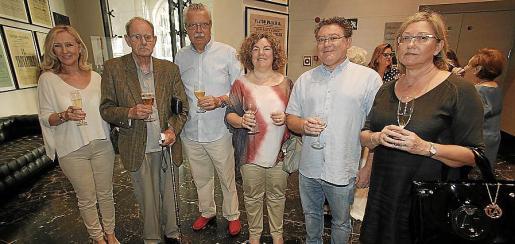 Nanda Obrador, Apolinar Marquina, Pep Ferrer, Antonia Ramis, Jaume Pomar y Catalina Pomar.