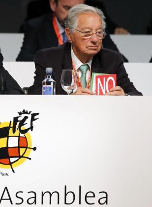 El vicepresidente de la Federación Española de Fútbol y presidente de la Federación tinerfeña, Juan Padrón.