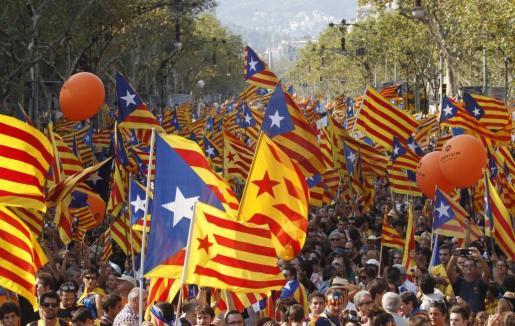 Imagen de archivo de la celebración de la Diada de Catalunya (11 S.)