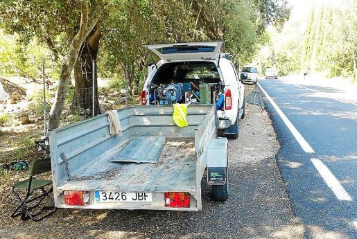 El Consell está habilitando un paso para senderistas en la servidumbre de la carretera.